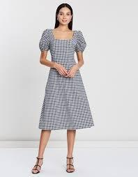 Victoria Puff Sleeve Dress by Atmos&Here Online | THE ICONIC ...